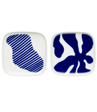 Marimekko Marimekko Ruudut mini plate 10x10 cm set of 2 in Jubilee packaging