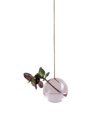 Studio About Studio About Flower bubble glazen vaasje 8cm roze