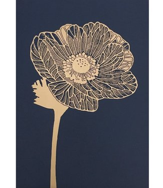 Monika Petersen Monika Petersen Lino Print Anemone Gold Indigo 50x70