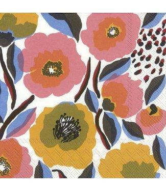 Marimekko Marimekko Rosarium wit roze Papieren Servetten 33x33cm