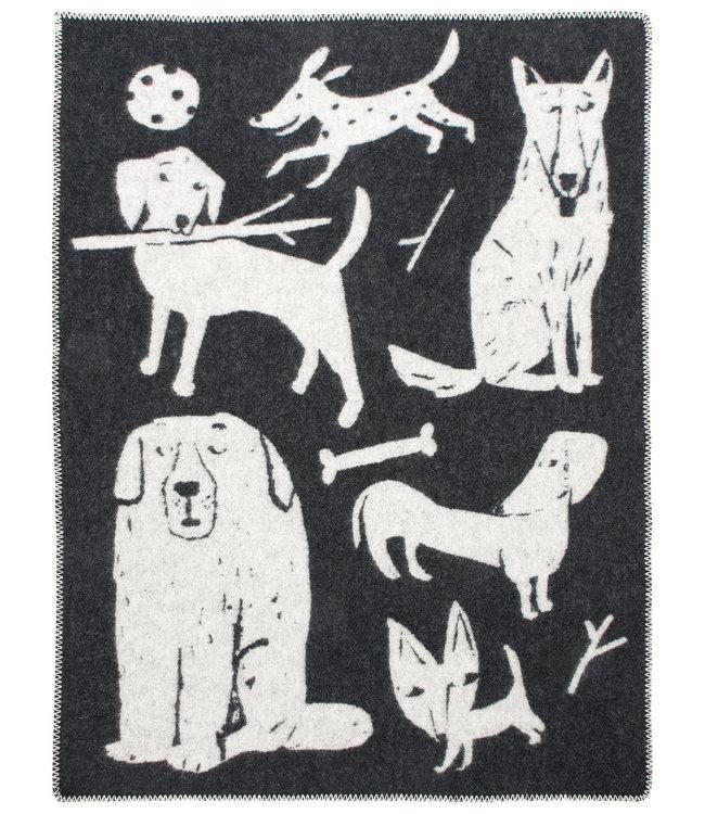 Lapuan Kankurit Lapuan Kankurit Koirapuisto wool plaid 130x180  black