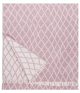 Lapuan Kankurit Lapuan Kankurit Puikko wollen plaid 140x180 roze