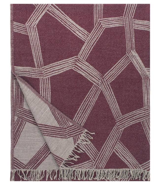 Lapuan Kankurit Lapuan Kankurit Puikko wool plaid 140x180 Bordeaux