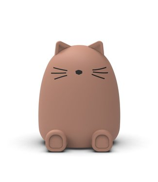 Liewood Liewood Silicone Moneybank Cat Dark rose