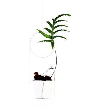 OK Design OK Design Cibele plantenpot hanger wit