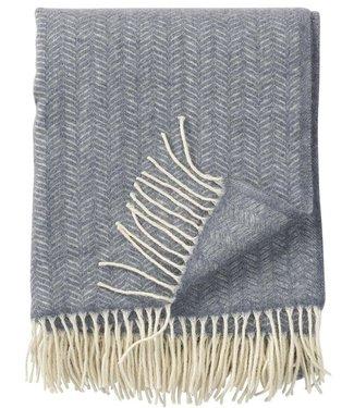 Klippan Klippan Tippy plaid 130x180 25% Cashmere wool & 75% merino wool light grey