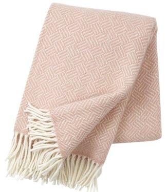 Klippan Klippan Samba wollen plaid 130x200 roze 100% lamswol