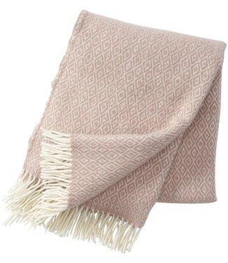 Klippan Klippan Stella wollen plaid 130x200 oud roze van 100% lamswol