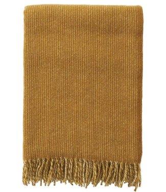 Klippan Klippan Shimmer plaid 130x200 mustard melange made of 100% eco lambs wool