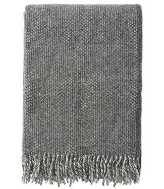 Klippan Klippan Shimmer wollen plaid 130x200 grijs melange van 100% eco lamswol