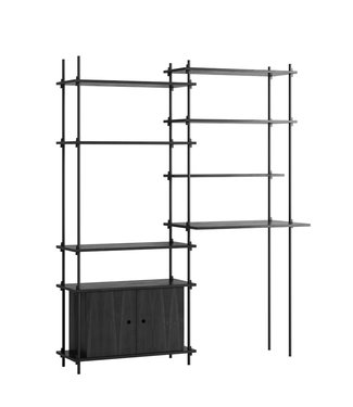 Moebe Moebe Shelving system S.200.2.F  (different colours)