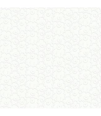 Marimekko Marimekko Unikko Papieren Servetten 33x33cm wit reliëf
