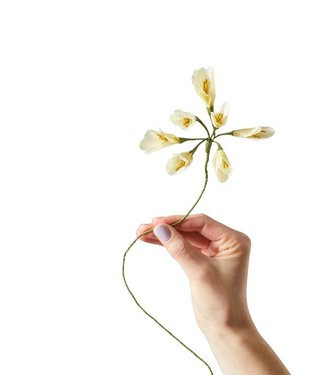 Studio About Studio About Papieren bloem Afrikaanse lelie geel