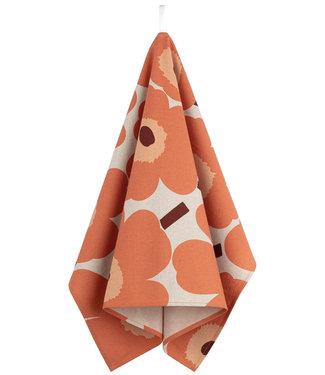Marimekko Marimekko Unikko Tea Towel Linen-Cotton  orange / burgundi
