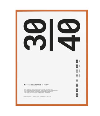 Paper Collective Paper Collective  30 x 40 cm Oranje  Lijst