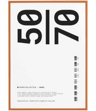 Paper Collective Paper Collective  50 x 70 cm Orange Frame