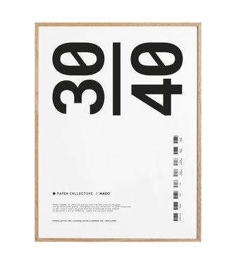 Paper Collective Paper Collective  30 x 40 cm Massief Eiken Lijst