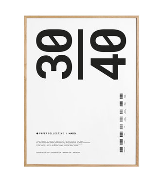 Paper Collective Paper Collective  30 x 40 cm Solid Oak Frame