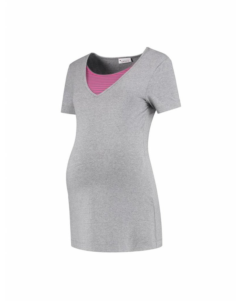 MAMSY Home Wear Shirt Grey