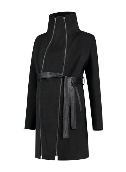 LOVE2WAIT Coat Double Zipper-Black