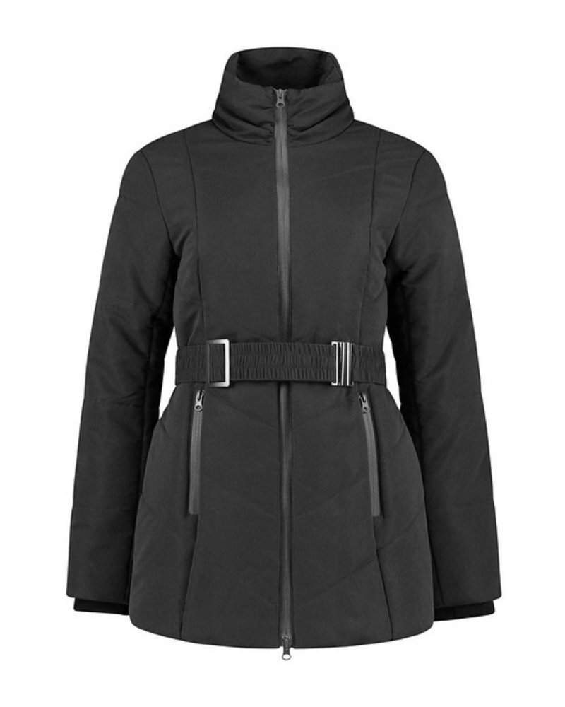 LOVE2WAIT Coat Double Zipper Padded-Black
