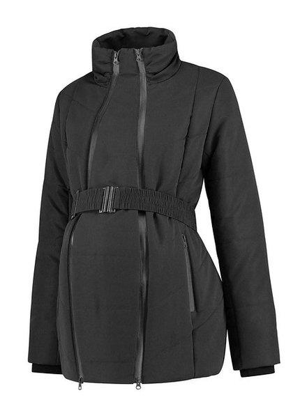LOVE2WAIT Coat Double Zipper Padded-Black