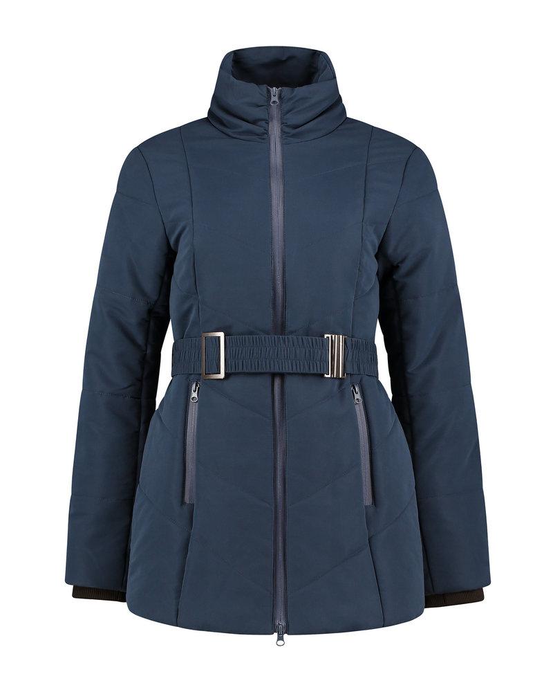 LOVE2WAIT Coat Double Zipper Padded-Navy