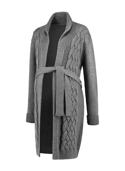 LOVE2WAIT Cardigan Cable-Grey