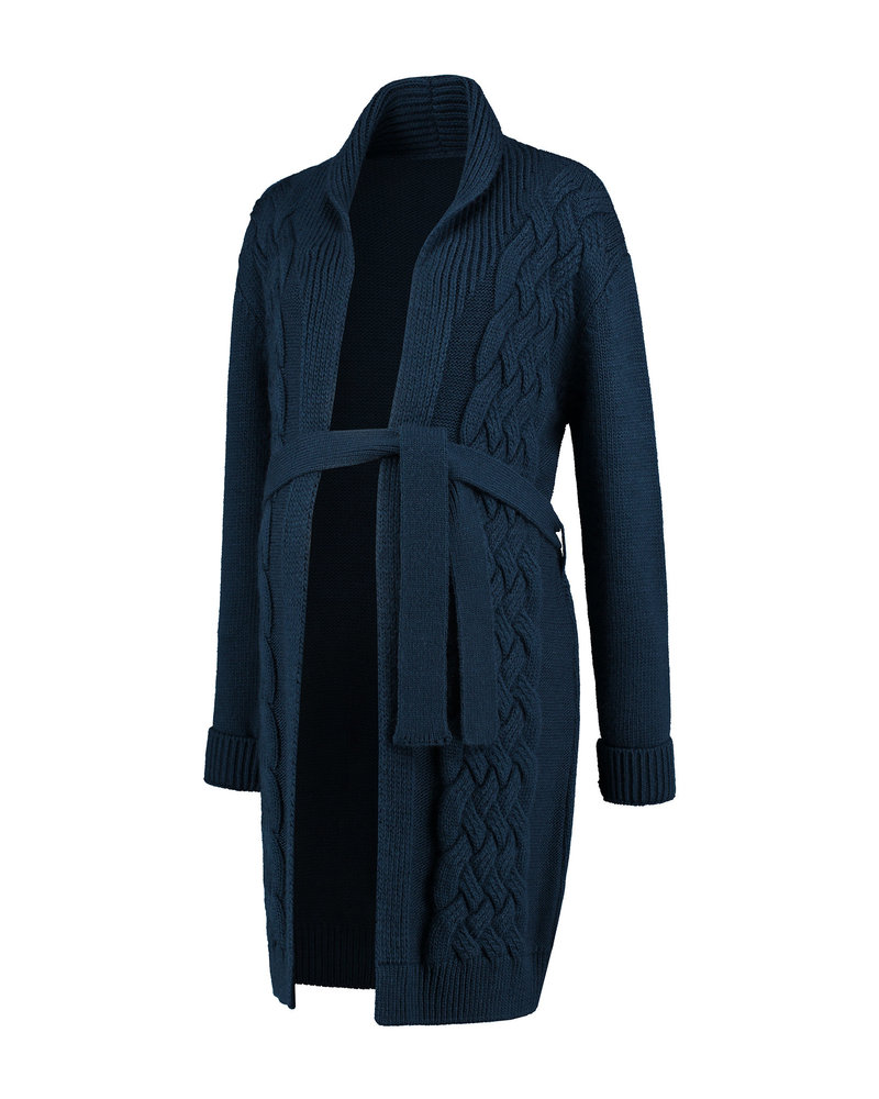 LOVE2WAIT Cardigan Cable-Navy