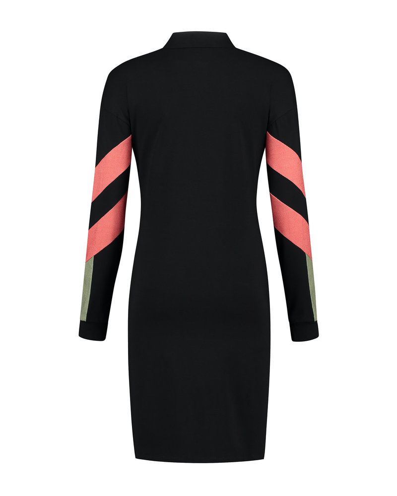 LOVE2WAIT Dress Colorblock Nursing-Black