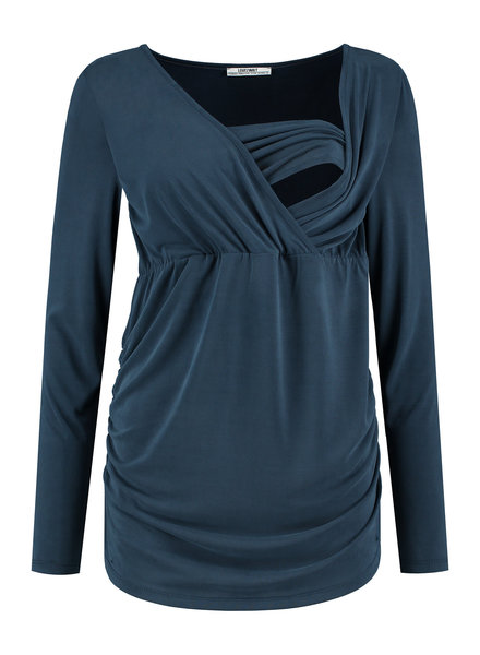 LOVE2WAIT Shirt l. sl. Nursing Cupro-Blue