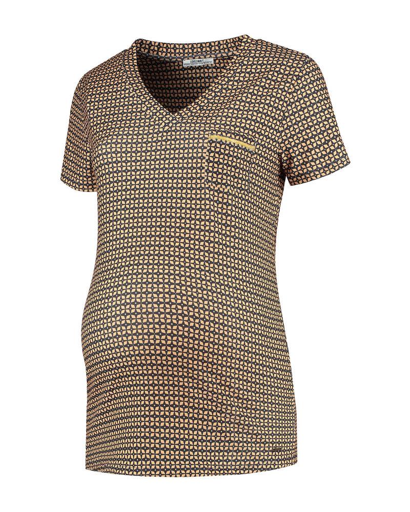 LOVE2WAIT Shirt sh. sl. AOP-Rusty