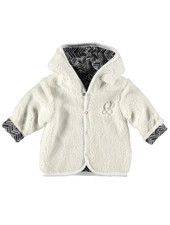 BESS Cardigan Teddy Reversible-White-19878-001