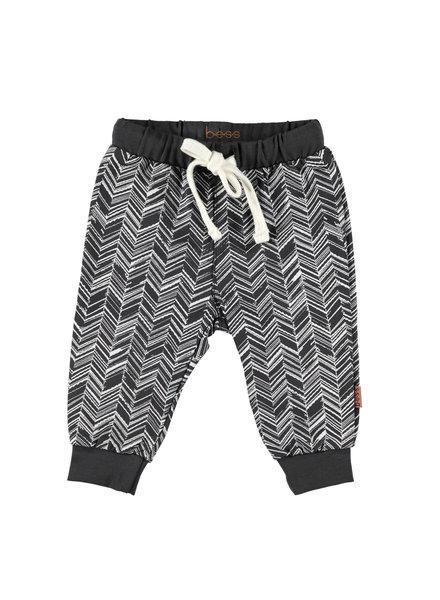 BESS Pants Herringbone-Anthracite-19866-003