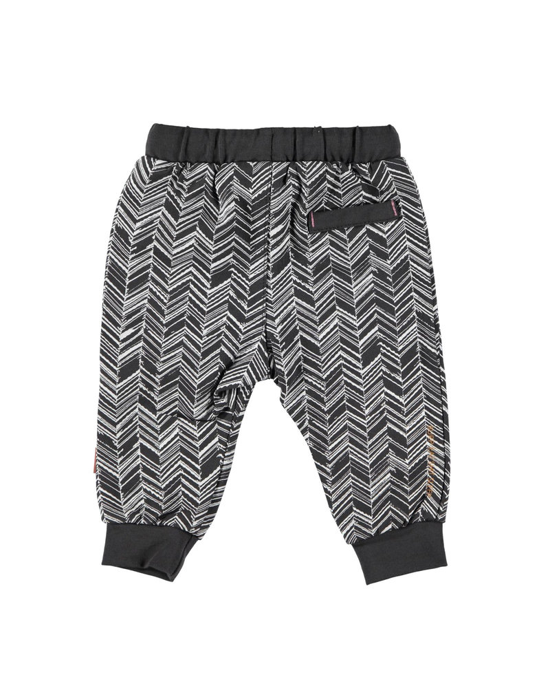 BESS Pants Herringbone-Anthracite-19866-003