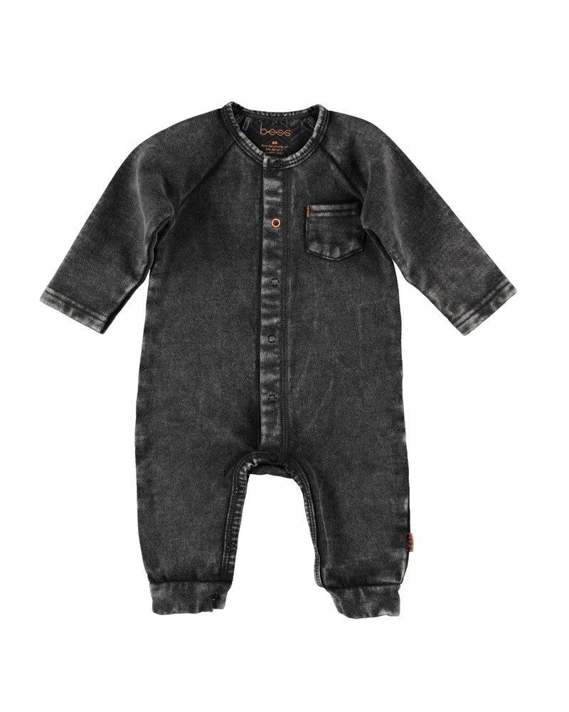 BESS Suit Jogdenim-Black Denim-19859-024