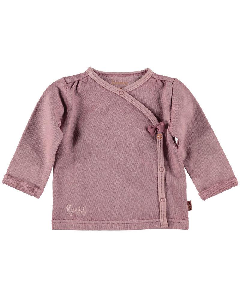 BESS Shirt l.sl. Ruffles Washed-Dusty Rose-19856-038