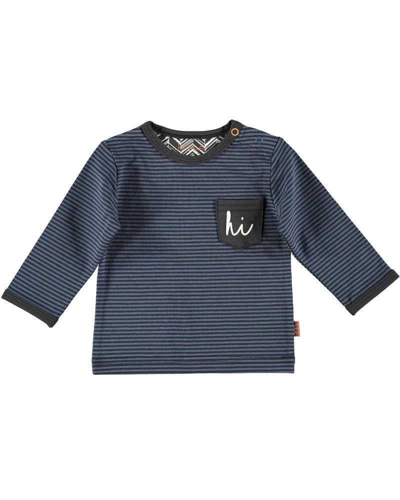 BESS Shirt l.sl. Striped Hi-White-19849-036