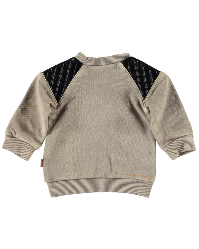 BESS Sweater Shoulderpatch-Sand-19852-050