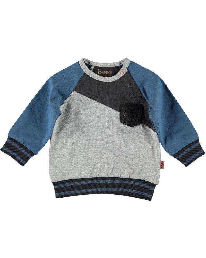 BESS Sweater Diagonal-Grey-19853-002