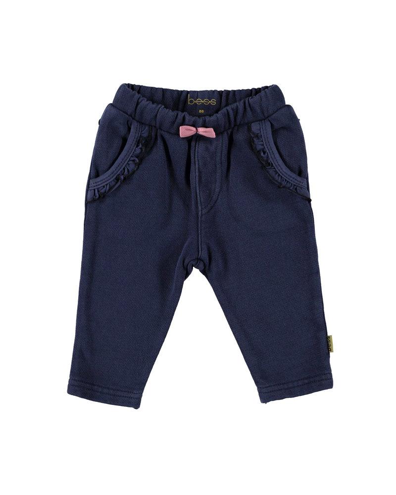 BESS Pants Jogdenim Ruffles-Stone Wash-19825-021