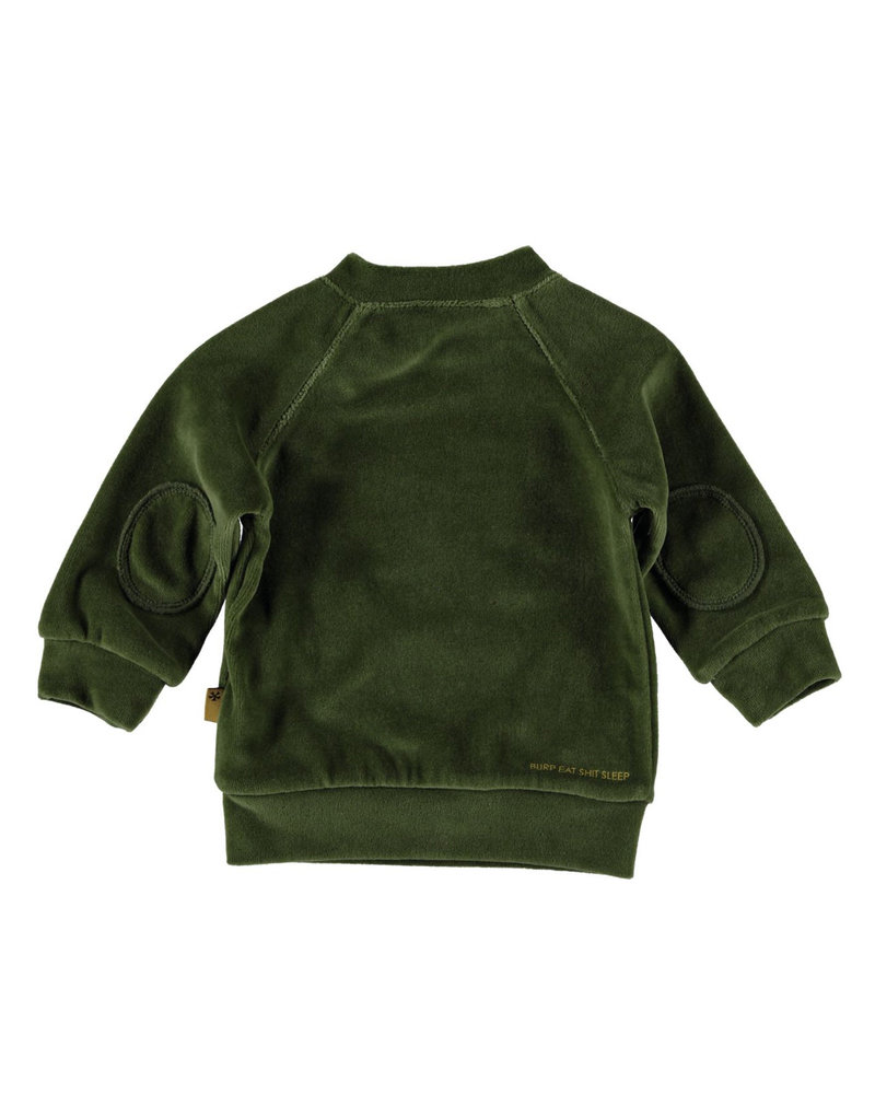 BESS Sweater Velvet-Olive-19805-054