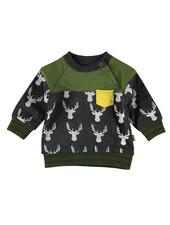 BESS Sweater AOP Deer-Anthracite-19806-003
