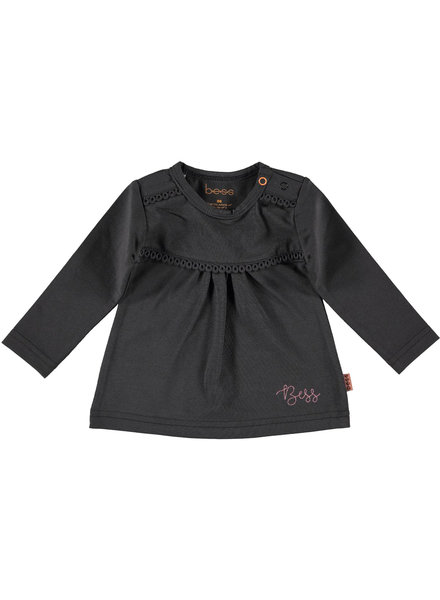 BESS Shirt l.sl. Crochet-Anthracite-19855-003