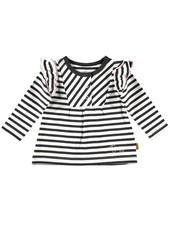 BESS Shirt l.sl.Stripes Ruffles-White-19810-001