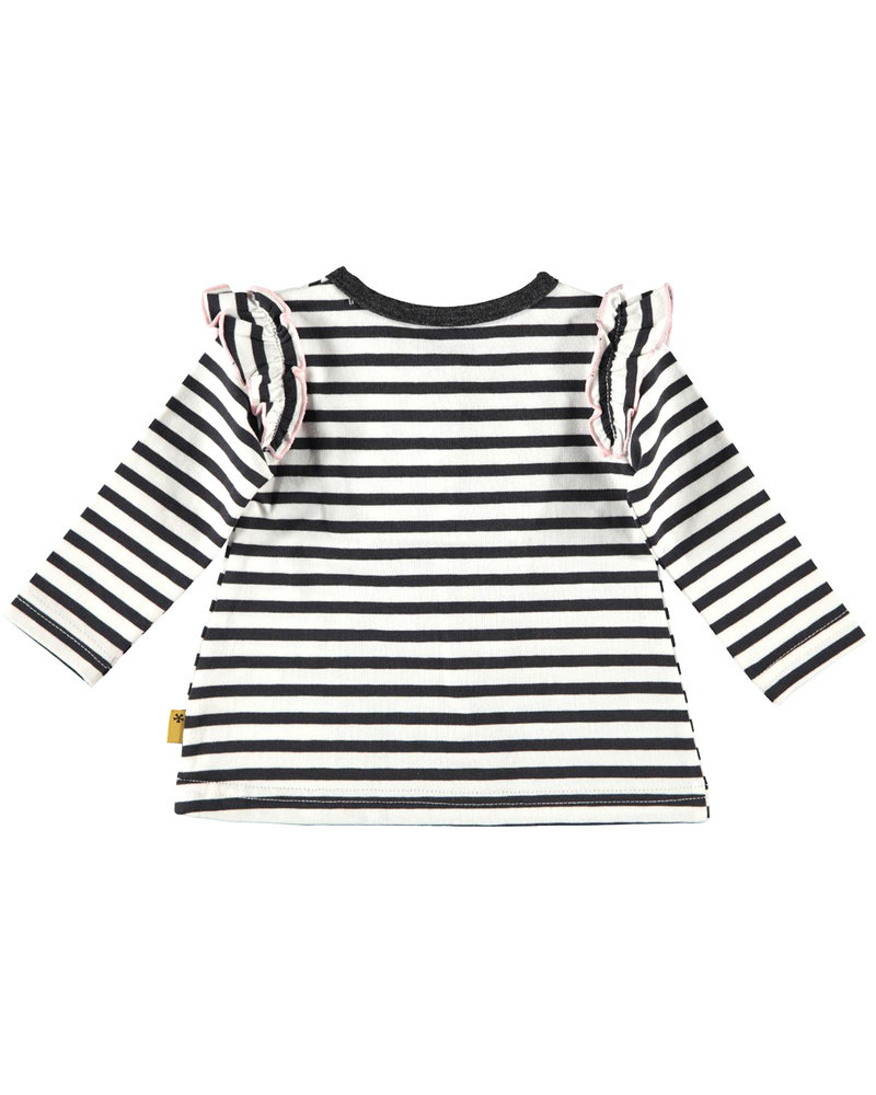 BESS Shirt l.sl.Stripes Ruffles-White-19810-001