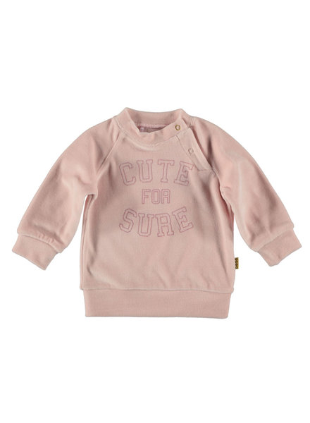 BESS Sweater Velvet Cute for Sure-Pink-19811-007