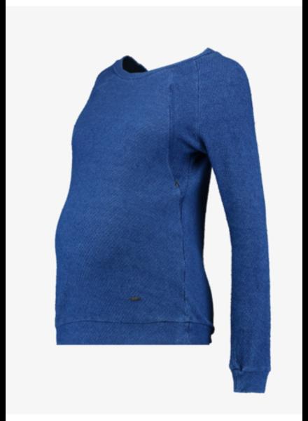 LOVE2WAIT Sweater Nursing Denim-Stone Wash
