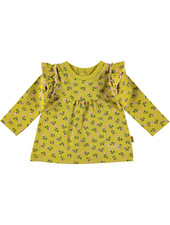 BESS Shirt AOP Romantic Flowers-Ocre-19842-039