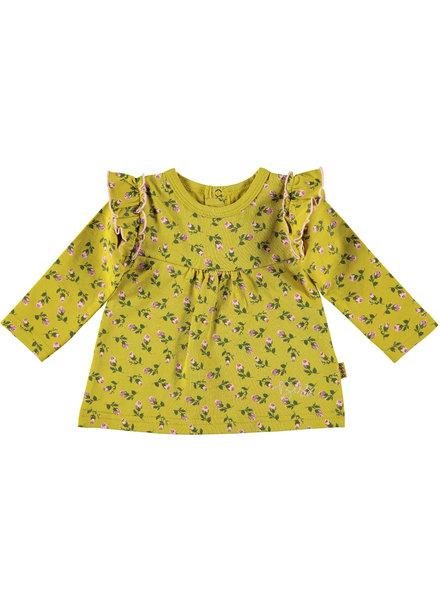 BESS Shirt AOP Romantic Flowers-Ocre-19842-039